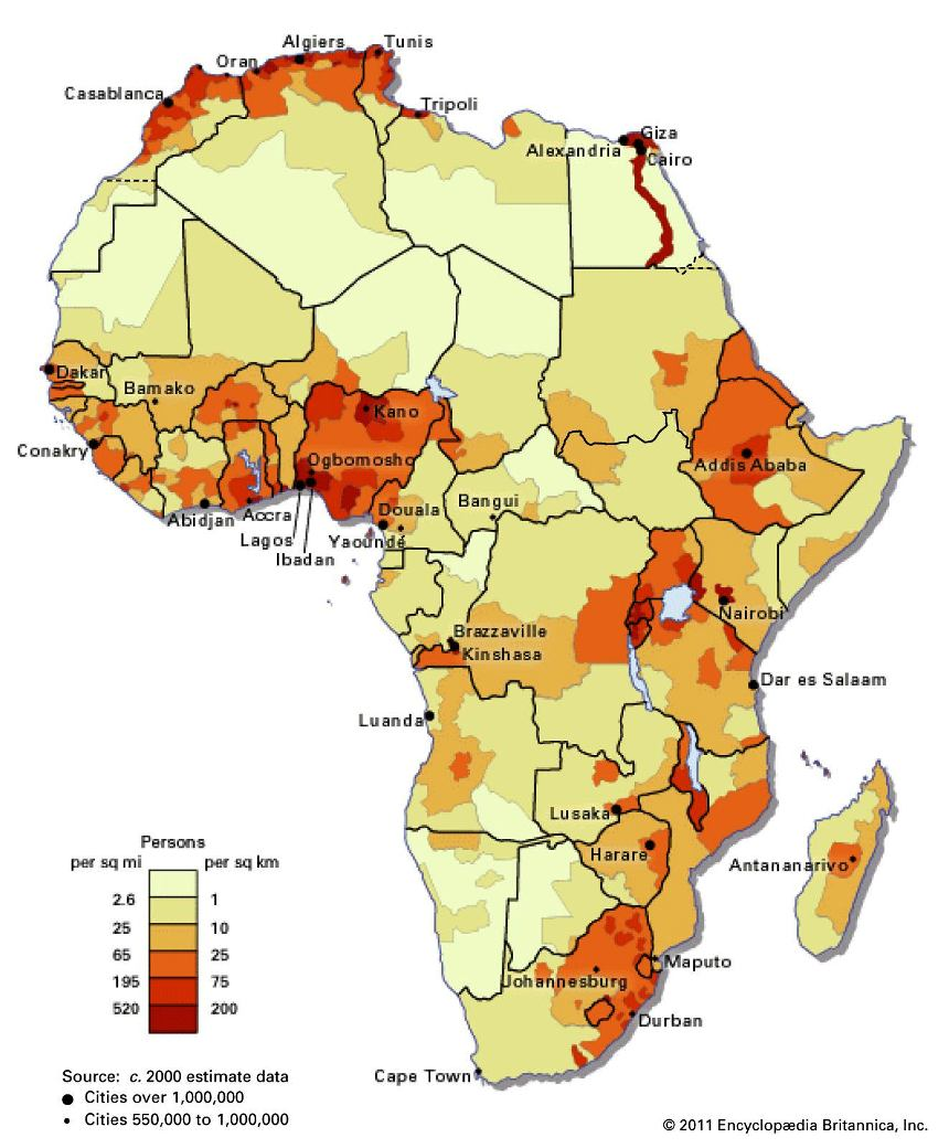 African Continent Population