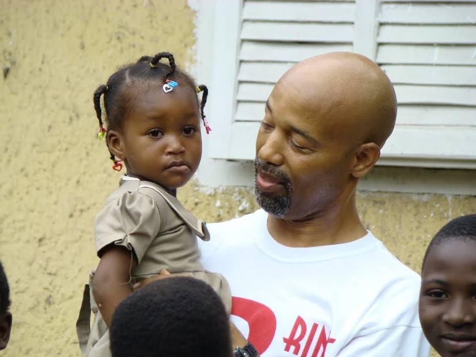Keidi with Benin Girl